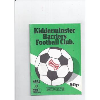 1986/87 Kidderminster Harriers v Boston United Football Programme