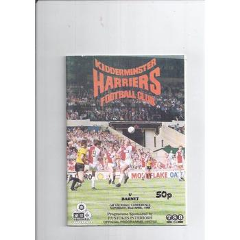 1987/88 Kidderminster Harriers v Barnet Football Programme
