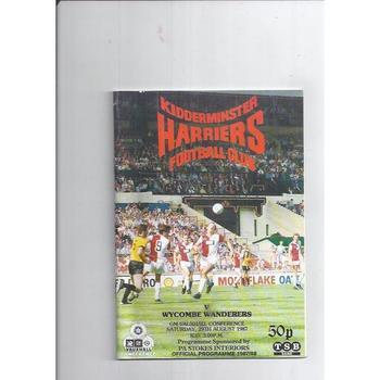 Kidderminster Harriers Home Football Programmes