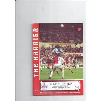 1991/92 Kidderminster Harriers v Boston United Football Programme
