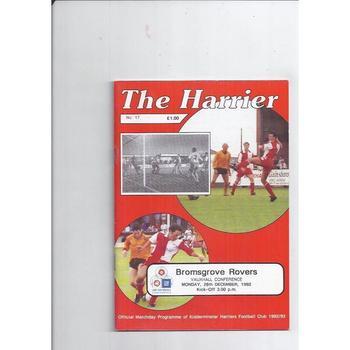 1992/93 Kidderminster Harriers v Bromsgrove Rovers Football Programme