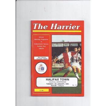 1993/94 Kidderminster Harriers v Halifax Town Football Programme