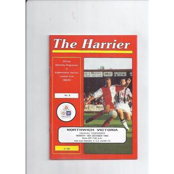1993/94 Kidderminster Harriers v Northwich Victoria Football Programme