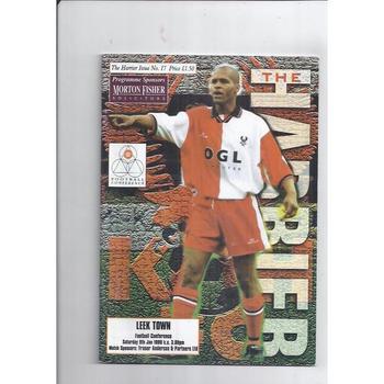 1998/99 Kidderminster Harriers v Leek Town Football Programme