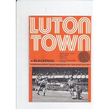 Luton Town Home Football Programmes
