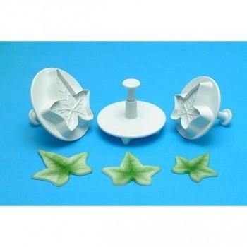 Culpitt 3 Ivy Leaf Plunger Cutters