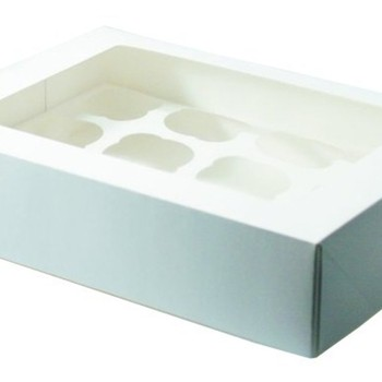 Cup Cake box – Holds 6 cup cake (styles may very)