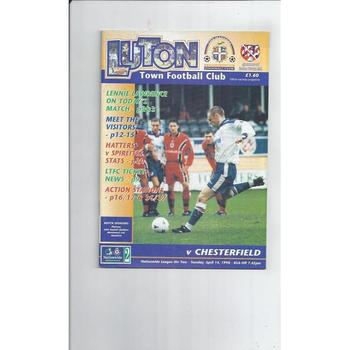 Chesterfield Away Football Programmes