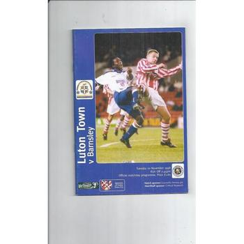 1998/99 Luton Town v Barnsley Worthington Cup Football Programme