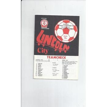1975/76 Lincoln City v Stoke City League Cup Football Programme
