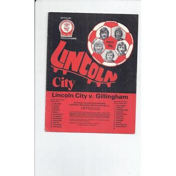 1976/77 Lincoln City v Gillingham Football Programme