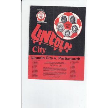 1976/77 Lincoln City v Portsmouth Football Programme