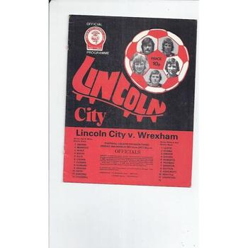 1976/77 Lincoln City v Wrexham Football Programme