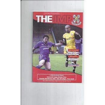 2001/02 Lincoln City v Macclesfield Town Football Programme