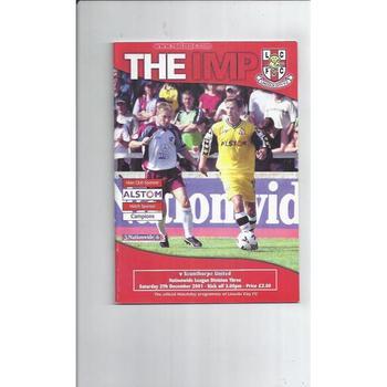 Scunthorpe United Away Football Programmes