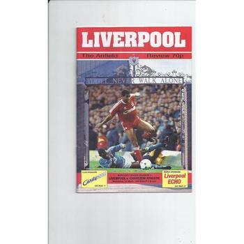 Liverpool Football Programmes