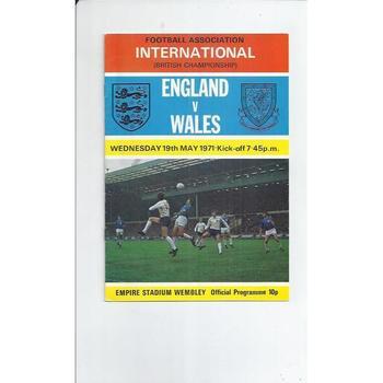 1971 England v Wales Football Programme