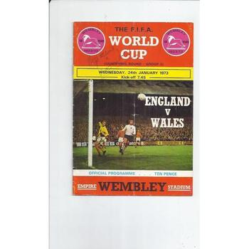 England v Wales 1973 World Cup