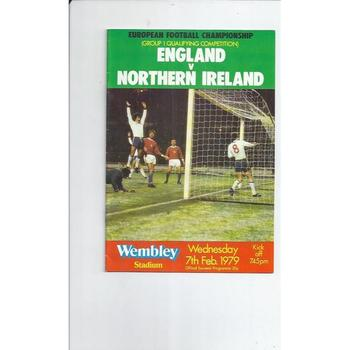 1979 England v Northern Ireland Football Programme