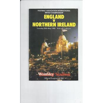 1980 England v Northern Ireland Football Programme