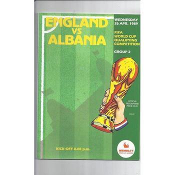 England v Albania 1989