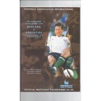 England v Argentina 1991