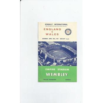 1961 England v Wales Schools International Football Programme