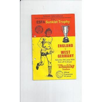 1979 England v West Germany Schools Football Programme
