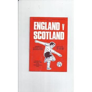 1983 England v Scotland Schools Football Programme @ Stoke City