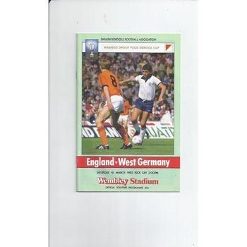 Schools International Football Programmes