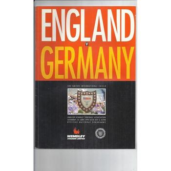 England v Germany Schools Football Programme 1993