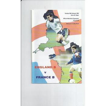 B International Football Programmes