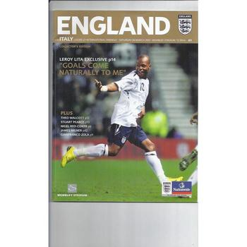 2007 England v Italy U21 International Football Programme 1st game New Wembley