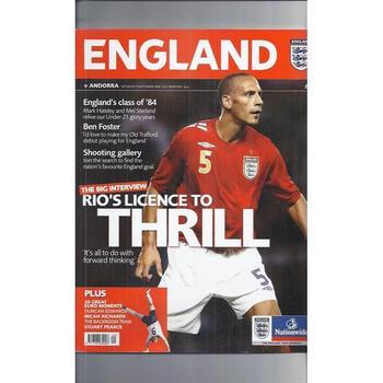 England v Andorra 2006