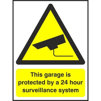 This garage is protected by a 24 hour surveillance system