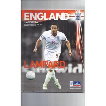 England v Andorra 2009