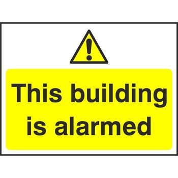This building is alarmed