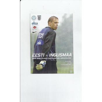 Estonia v England Football Programme 2007