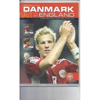 2005 Denmark v England Football Programme