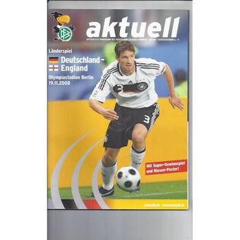 2008 Germany v England Football Programme + Poster