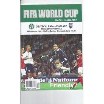 2008 Germany v England Friendly Match Magazine