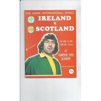 1978 Northern Ireland v Scotland Football Programme