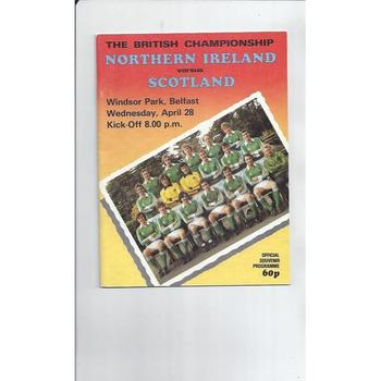 Northern Ireland v Scotland Football Programme 1982