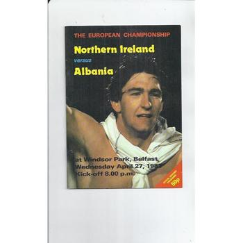 1983 Northern Ireland v Albania Football Programme