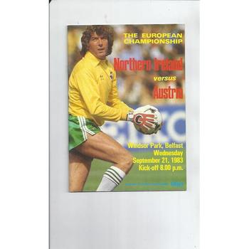 Northern Ireland v Austria Football Programme 1983