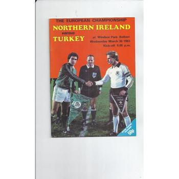 1983 Northern Ireland v Turkey Football Programme