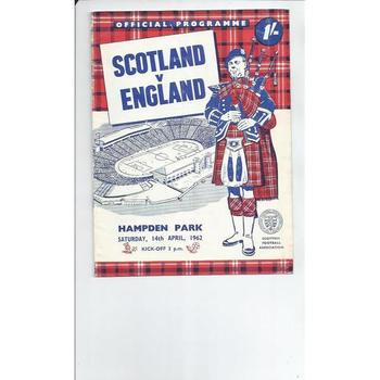1962 Scotland v England Football Programme