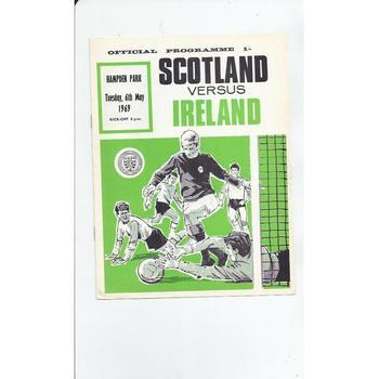 Scotland v Ireland Football Programme 1969