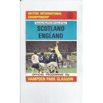 1972 Scotland v England Football Programme