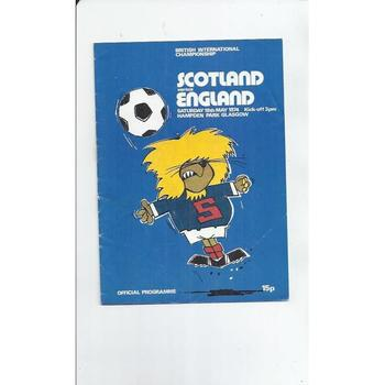 1974 Scotland v England Football Programme